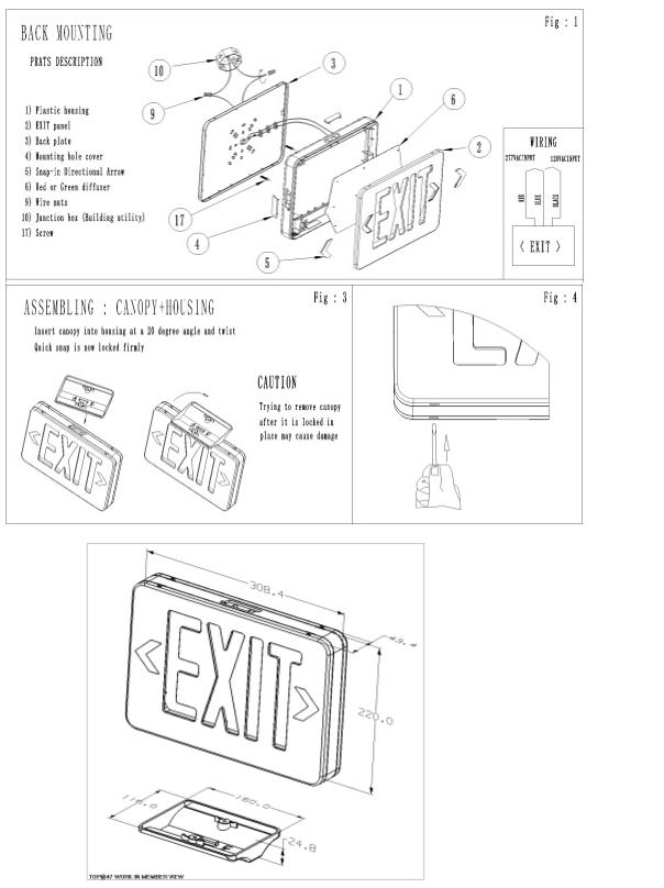 Lx 750gr Ul Exit Sign